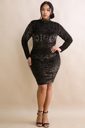 Glitter Velvet Body-Con Dress