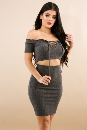 Sweet Girl Corset Skirt Set