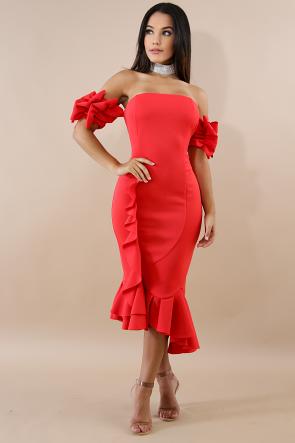 Whip Swirl Body-Con Dress