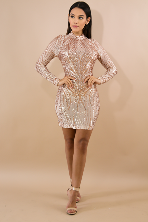 Dazzling Sequin Body-Con Dress