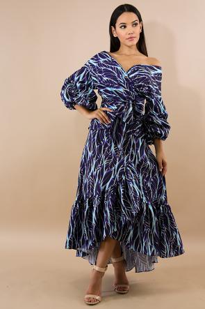 Feather Cascade Skirt Set