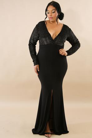 Sparkle Velvet Taboo Maxi Dress