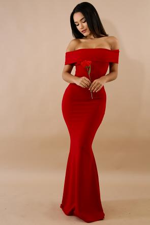 Flare Tail Maxi Dress