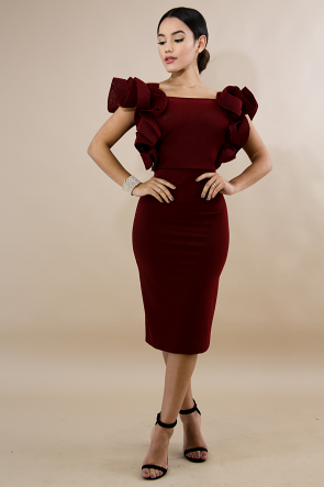 Sheer Swirled Body-Con Dress