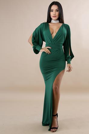 Glam Slit Maxi Dress