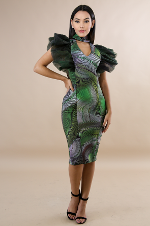 Choker Tulle Savage Body-Con Dress