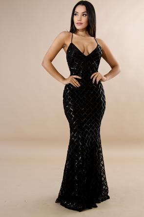 Sequin Diamond Mermaid Dress