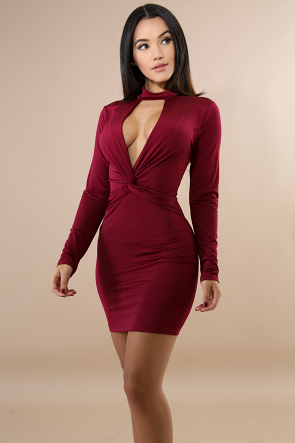 Choker Knot Mini Dress