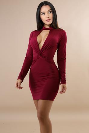 Choker Knot Mini Dress