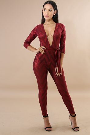 Chevron Shine Jumpsuit