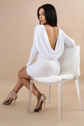 Glance Cowl Back Mini Dress