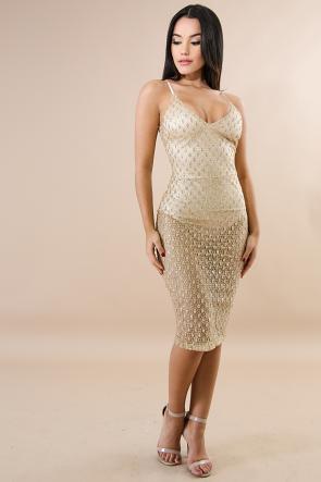 Glitter Dash Body-Con Dress