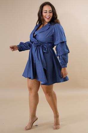 Cascade Flare Dress