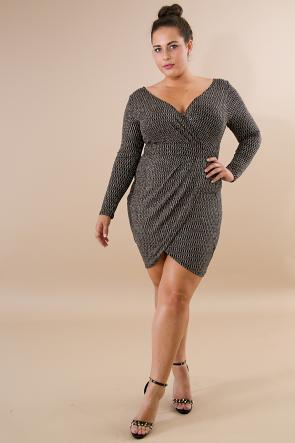 Glitter Diamond Body-Con Dress
