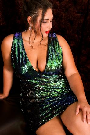 Water Sequin Body-Con Dress