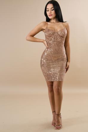 Sequin Star Shine Body-con Dress