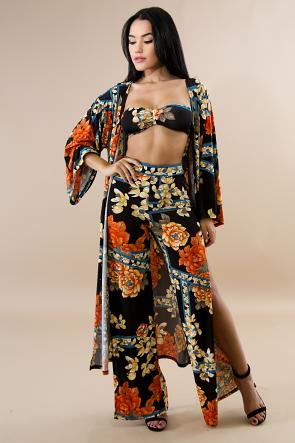 Floral Blossom Kimono Set