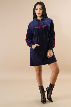 Baby Girl Hoodie Flannel Dress
