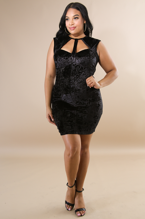 Suede Crush Body-Con Dress