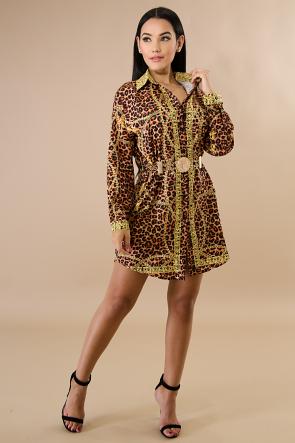 Leopard Lion Tunic Dress