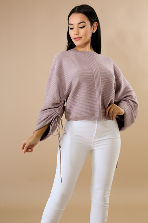 Sleeve Scrunch Sweater Top