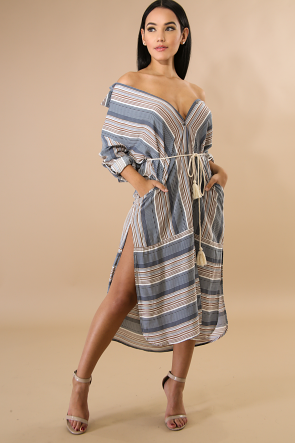 Beach Cottage Slit Dress