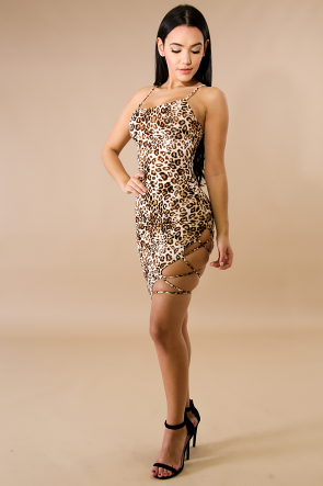 Leopard Ladder Body-Con Dress
