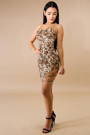 Leopard Ladder Body-Con Dress