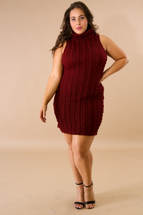 Twisted Sweater Knit Body-Con Dress
