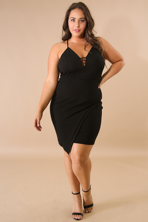 Surplice Body-Con Dress