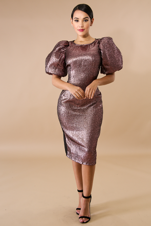 Mashay Metallic Body-Con Dress