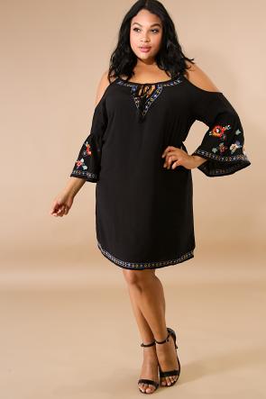 Crochet Smocked Flare Dress