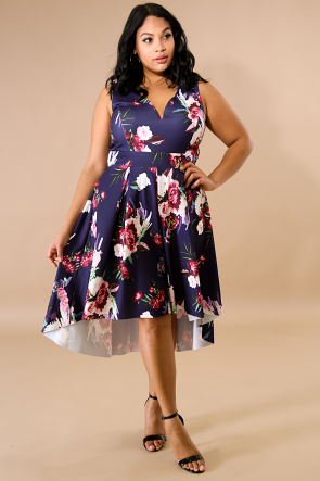 Blossom Floral Flare Dress