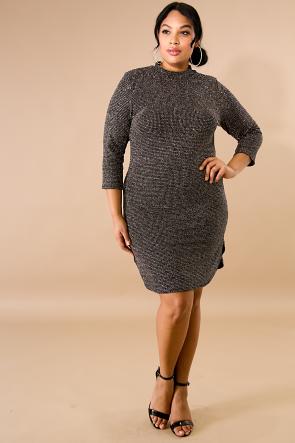 Sparkle Body-Con Dress