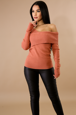 Over Lap Knit Sweater