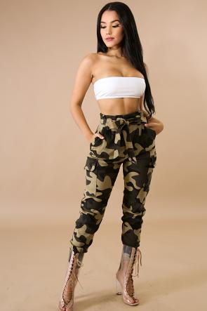 Camouflage Boxy Pants