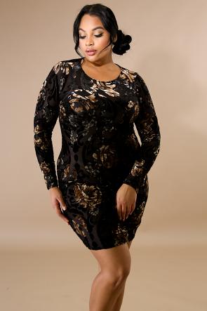 Velvet Dye Midi Body-Con Dress