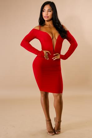 Vavum Midi Body-Con Dress