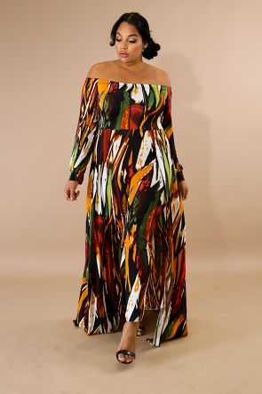 Paint Splash Maxi Jumpsuit