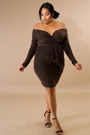 Surplice Swift Flare Dress