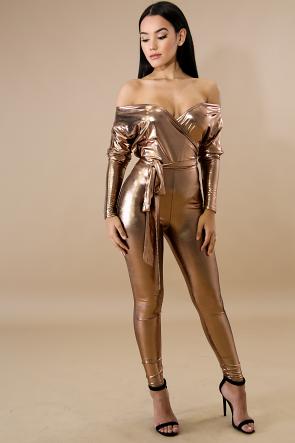 Metallic Shine Jumpsuit