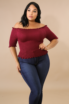 Ruched Accordion Knit Top