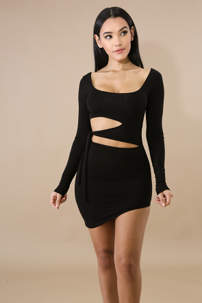 Edgy Cut Out Body-Con Dress