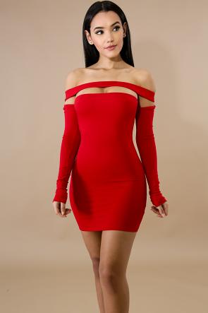 Jersey Band Body-Con Dress