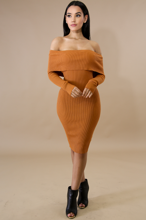 Knit Slay Midi Dress