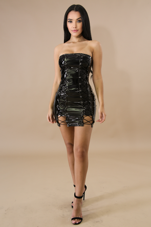 Eyelet Tube Barbie Body-Con Dress