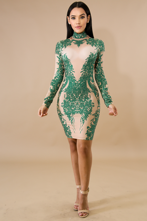 Esmeralda Gem Body-Con Dress