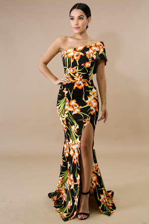 Calatheas One Shoulder Maxi Dress