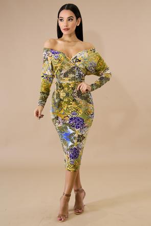 Paisley Blur Dress