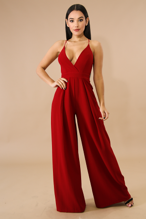 Palazzo Bow Back Jumpsuit
